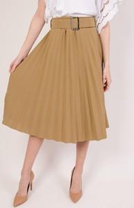 Brązowa spódnica Olika midi w stylu casual