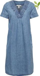 Niebieska sukienka Esprit z krótkim rękawem