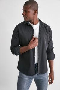 Czarna koszula Trendyol z długim rękawem