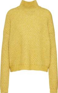 Żółty sweter Hugo Boss z bawełny