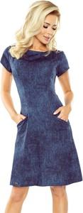 Sukienka NUMOCO z jeansu mini w stylu casual
