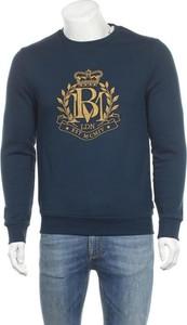 Niebieska koszulka z długim rękawem Burton Of London z bawełny w młodzieżowym stylu z długim rękawem