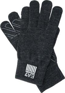 Czarne rękawiczki EA7 Emporio Armani