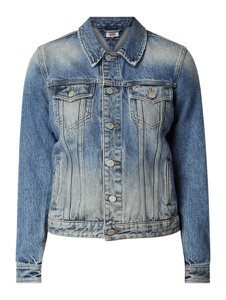 Niebieska kurtka Tommy Jeans w stylu casual