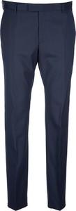 Niebieskie spodnie Strellson z wełny