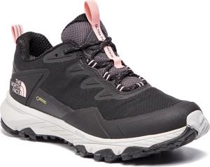 Buty sportowe The North Face sznurowane w sportowym stylu z płaską podeszwą