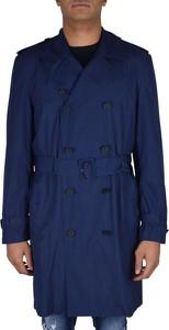 Niebieski płaszcz męski Valentino