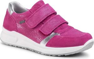 Różowe buty sportowe dziecięce Superfit na rzepy