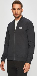Czarna bluza EA7 Emporio Armani z bawełny