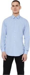 Niebieska koszula Hugo Boss z długim rękawem z bawełny