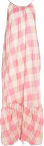 Różowa sukienka Semicouture w stylu casual