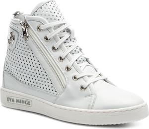 Sneakersy Eva Minge sznurowane ze skóry w stylu casual