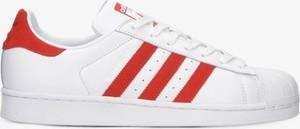 Trampki Adidas z płaską podeszwą sznurowane superstar