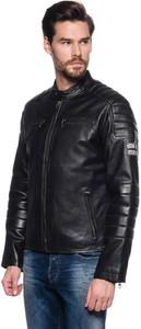 Czarna kurtka Pepe Jeans w rockowym stylu