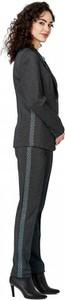 Turkusowe spodnie POTIS & VERSO z dzianiny w stylu klasycznym