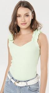 Zielona bluzka born2be z okrągłym dekoltem w stylu casual