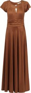 Sukienka POTIS & VERSO z krótkim rękawem maxi wyszczuplająca