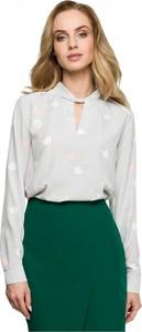 Bluzka Style z długim rękawem z dekoltem w kształcie litery v