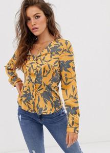 Złota bluzka Vero Moda z długim rękawem