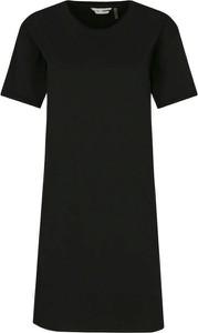 Sukienka DKNY z okrągłym dekoltem mini prosta