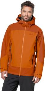 Pomarańczowa kurtka Jack Wolfskin w sportowym stylu