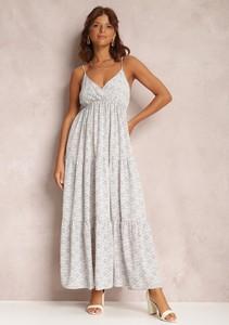 Sukienka Renee trapezowa z dekoltem w kształcie litery v maxi