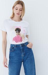 T-shirt Mohito w młodzieżowym stylu z krótkim rękawem z bawełny