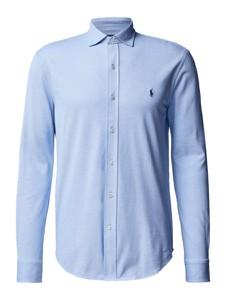 Niebieska koszula POLO RALPH LAUREN z długim rękawem z bawełny