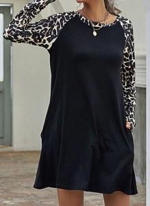 Sukienka Cikelly w stylu casual z okrągłym dekoltem mini