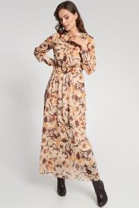Sukienka QUIOSQUE w stylu boho z długim rękawem