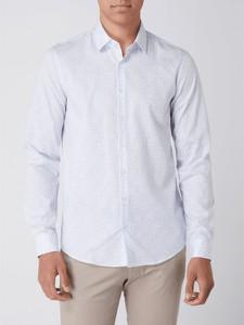 Koszula Calvin Klein z klasycznym kołnierzykiem z bawełny z długim rękawem