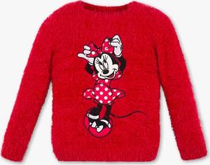 Czerwony sweter C&A dla dziewczynek
