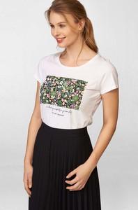 T-shirt ORSAY z bawełny z okrągłym dekoltem z krótkim rękawem