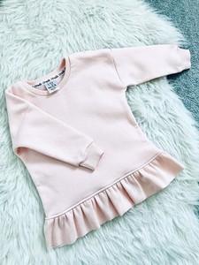 Różowa bluza dziecięca ilovemilk.pl z długim rękawem