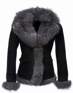 Czarny płaszcz V.rooka w stylu casual