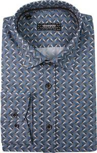 Koszula Grzegorz Moda Męska z długim rękawem z bawełny