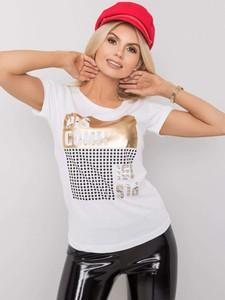 T-shirt Sheandher.pl z okrągłym dekoltem z bawełny
