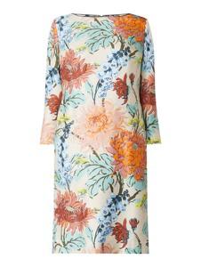 Sukienka Windsor prosta z okrągłym dekoltem z długim rękawem