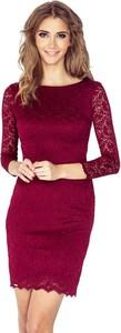 Czerwona sukienka NUMOCO z długim rękawem