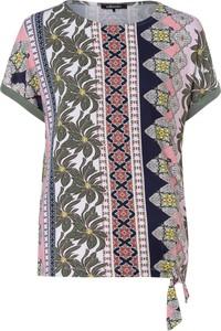 Bluzka Olsen z bawełny w stylu casual z krótkim rękawem