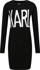 Sukienka Karl Lagerfeld w stylu casual z okrągłym dekoltem