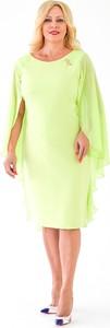Żółta sukienka Roxana - sukienki z długim rękawem