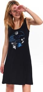Sukienka Top Secret z okrągłym dekoltem prosta na ramiączkach