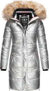 Srebrny płaszcz Navahoo w stylu glamour