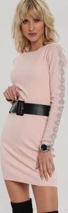 Sukienka Renee z okrągłym dekoltem mini w stylu casual