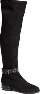 Czarne kozaki Guess za kolano