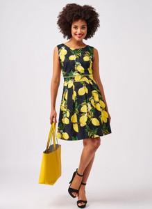 Sukienka Smashed Lemon mini bez rękawów z dzianiny