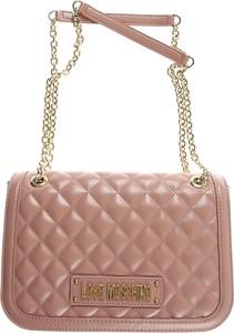 b1b35a05b1232 złoty łańcuszek do torebki. Różowa torebka Moschino na ramię mała