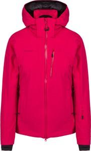 Czerwona kurtka Mammut w stylu casual z tkaniny