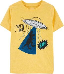 Żółta koszulka dziecięca OshKosh z krótkim rękawem